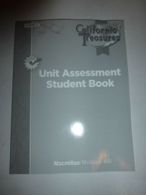 California Treasures Grade 3 Unit Assessment Student Book Macmillan PB