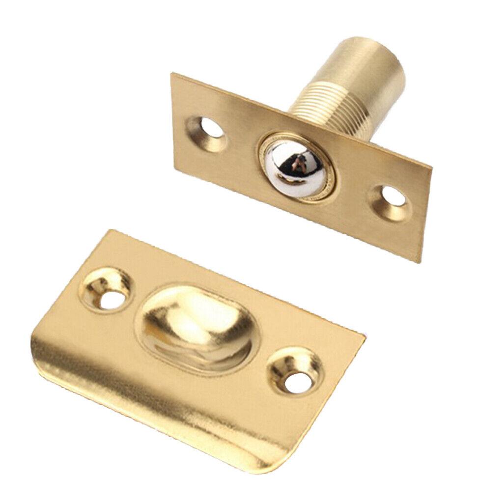 Picture of: Adjustable Door Mortice Roller Ball Catch Cabinet Cupboard Door Latch Brass For Sale Online