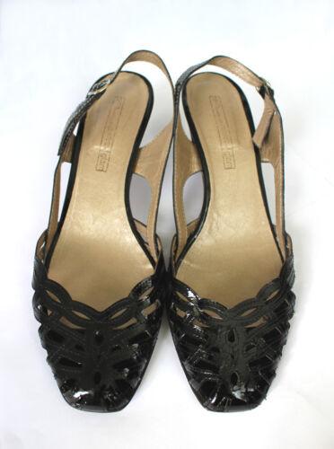 Sandalette Sandale Progetto Pumps 38 Gr Leder Lackleder Italy Echtleder pqw4RdFxw