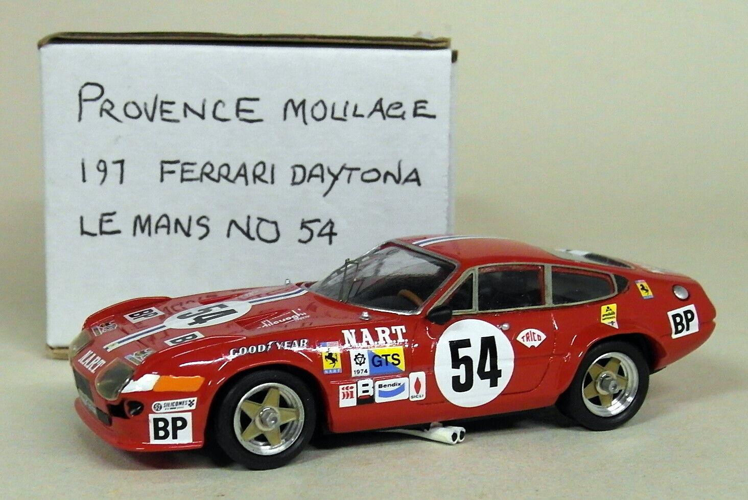 PROVENCE MOULAGE échelle 1 43 Kit Ferrari Daytona Le Mans 1974  54 Résine Voiture Modèle