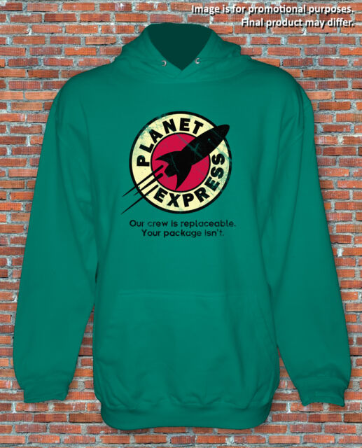 Planet Express Delivery Futurama Inspired Hoodie Unisex S to 2XL