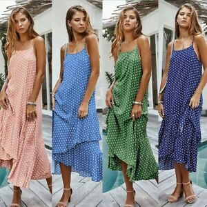 Women-Boho-Long-Maxi-Dress-Holiday-Summer-Beach-Strappy-Sexy-Swing-Sundress-LIU9
