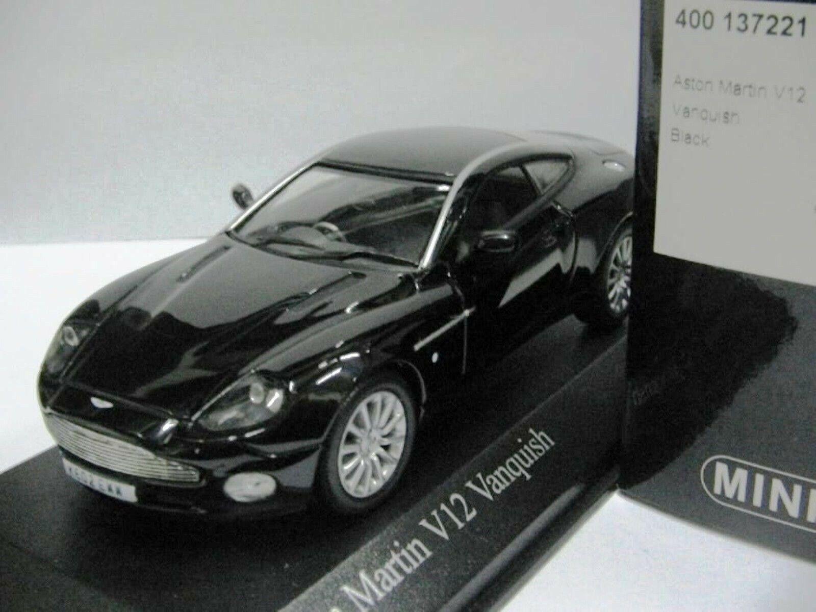 Wow extrêmement rare Aston Martin Vanquish 5.9 L V12 2002 noir 1 43 Minichamps-DBS