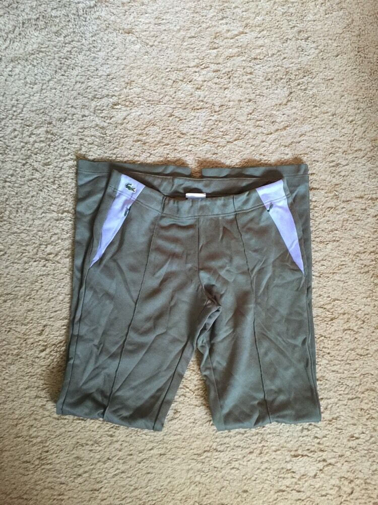 LACOSTE SWEATPANTS JOGGING LOUNGE PANTS...OLIVE AND LAVENDER...SIZE 38 M