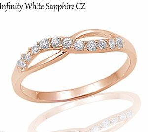 14k-Rose-Gold-Infinity-Celtic-White-Sapphire-Sterling-Silver-Ring-Size-3-12