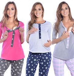Mija – 3in1 Stillpyjama Stillschlafanzug Umstandspyjama Pyjama Schlafanzuge 4054