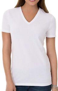 white t shirt v neck for women