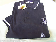 NICE DARK BLUE HEAVY KNIT CASUAL / GOLF SHORT SLEEVE SHIRT JEE CEE EXPORTS ENT