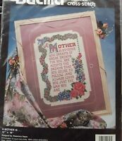 A Mother Is Counted Cross Stitch Bucilla Poem Poetry Floral Roses Retired 1993 Craft Supplies