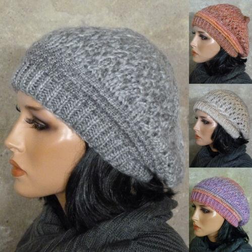 Damen Mütze Strickmütze Wollmütze Beanie Baskenmütze warm trendig Farbauswahl V