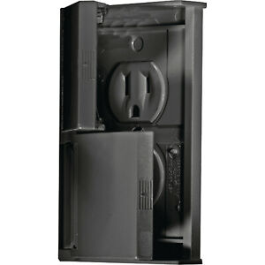 Rv Electrical Outlet >> Details About Dual Rv Electrical Outlets Receptable With Weather Proof Snap Cover Plate Black