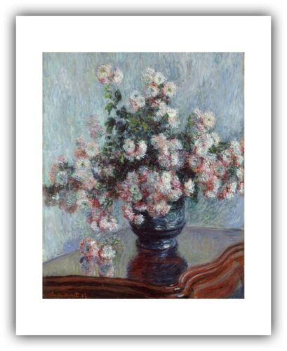 """Claude Monet 1882 /""""Chrysanthemums/"""" — Giclee Fine Art Print"""