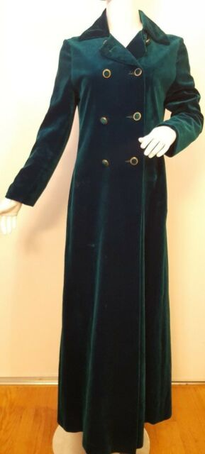 Vintage, Lou Ritchie of Montreal, Emerald Green, Double-breasted Coat (Sm) 1960s