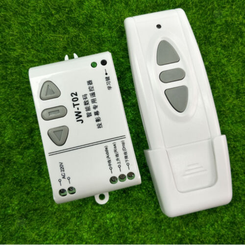 433MHZ Remote Switch Controller AC 220V 2 CH Motor Up Down Stop Transmitter