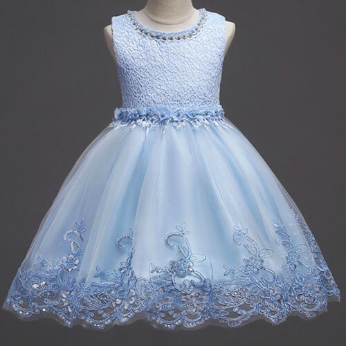 Flower Girl Dress Princess Pageant Birthday Wedding Formal Dresses Gown For Kid