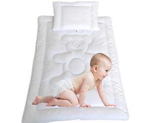 Bettdecke Kinder Baby Set Bärchen Baumwolle Steppbett+Kissen 100x135cm/40x60cm