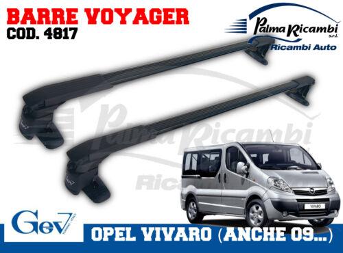 4817 BARRE PORTATUTTO PRE-MONTATE VOYAGER GEV OPEL VIVARO