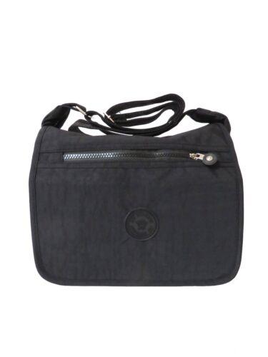 Womens Nylon Fabric Multi-Pockets Cross Body Bag Shoulder Ladies Handbag