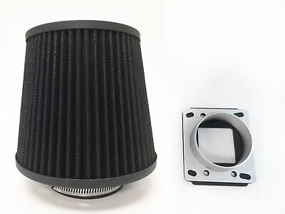BLACK Intake Filter MAF Adapter For 86-89 Toyota Corolla//AE86 1.6L