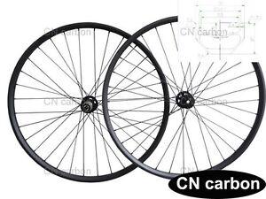 29inch Mtb Carbon Bike Wheels 30mm Wide Tubuless Thru Axle Hub