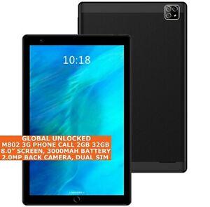 """M802 3 G Téléphone Appel Tablette PC 2 Go 32 Go Octa-Core 8.0"""" Dual SIM W-Fi GPS Android"""