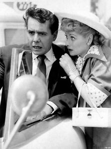 Lucille Ball Woman Talking to Man in Movie Scene High Quality Photo