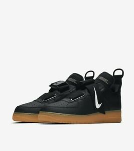 NEW-Nike-Air-Force-1-Low-Utility-Shoes-Black-White-Gum-Brown-Men-039-s-Size-9-5