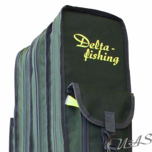 Delta Fishing Rutentasche 2 /& 3 Fach 125-195CM Karpfen Angel Futteral Sha