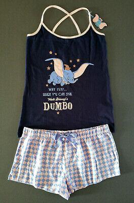 Disney Dumbo Damen Pyjama Kurz Schlafanzug Shorty Elefant Xs-xl Glitzer Primark Angenehm Zu Schmecken