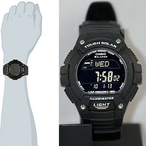 606ec521c041 Casio WS-220-1B Tough SOLAR Watch 120-Lap Memory Stopwatch Sports ...