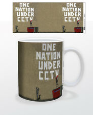 ONE NATION UNDER CCTV 11 OZ COFFEE MUG TEA CUP BANKSY STREET ART GRAFFITI SOCIAL