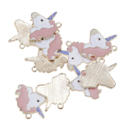 20pcs Cute Enamel Alloy Animal Unicorn Charms For Jewelry Making Findings