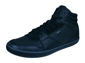 Details about Geox U Box J Nappa Mens Leather Sneakers High Top Fashion Shoes Black