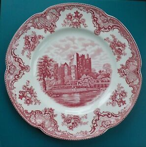OLD-BRITAIN-CASTLES-PINK-Dinner-Plate-Johnson-Brothers-Crown-Earthenware