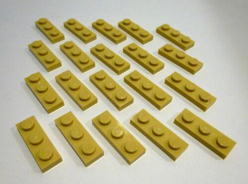20 x LEGO®3623 City,Basissteine 1x3 Noppen flach in beige,tan,sandfarben Neuware