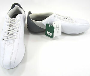 295f1f5b40ed67 LaCoste Shoes Expel Tumbled B64 White Gray Sneakers Mismatch 12 11 ...