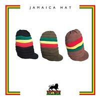 Roots Rastafari Hat Cap Peak Dreadlocks Jamaica Trinidad Caribbean Marley [ Xl ]