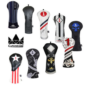 Craftsman-Vintage-Golf-Headcover-Hot-Driver-head-cover-Black-amp-White-460CC-Covers