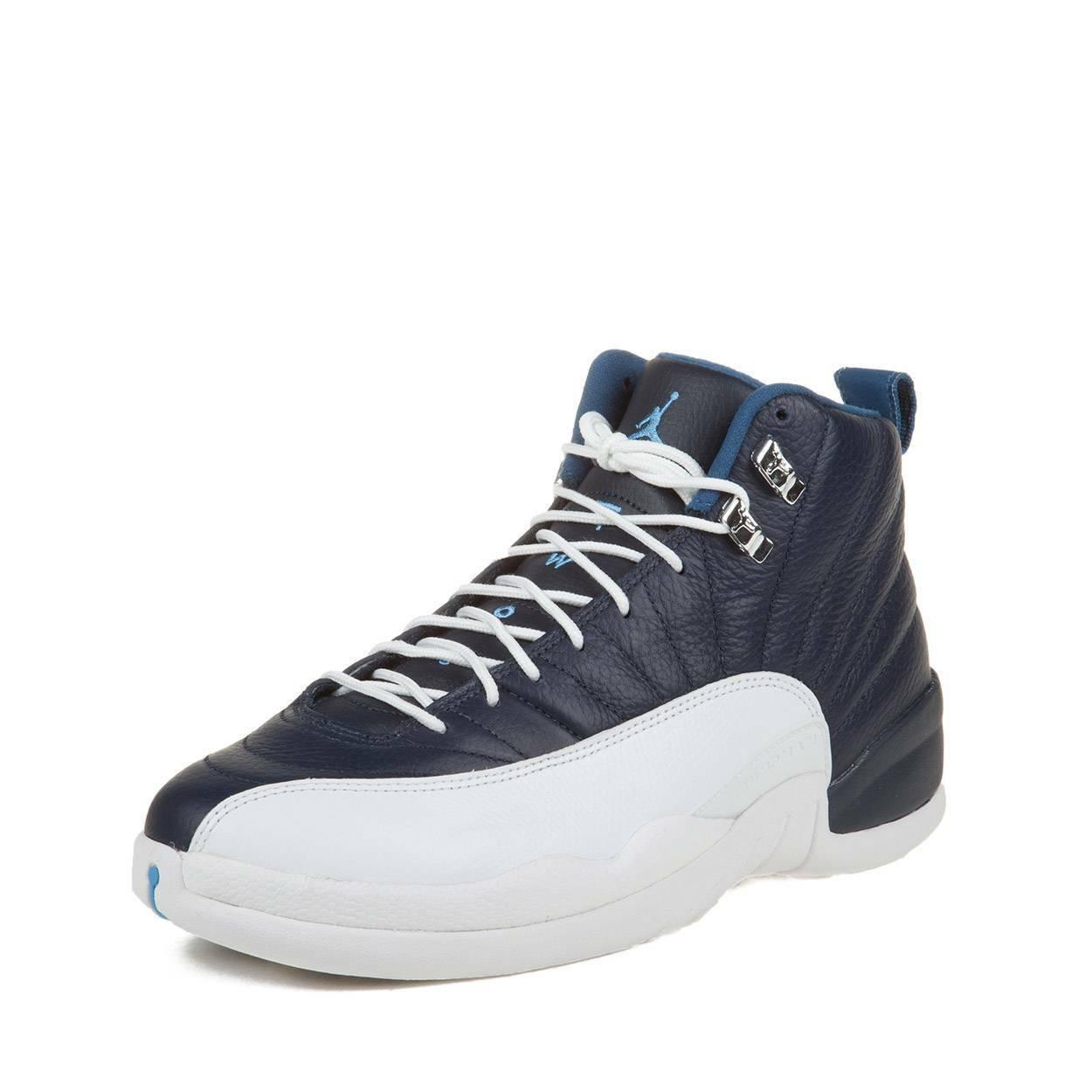 online store 56d4a 0749c Nike Mens Mens Mens Air Jordan 12 Retro Obsidian University bluee 130690-410  Size 10
