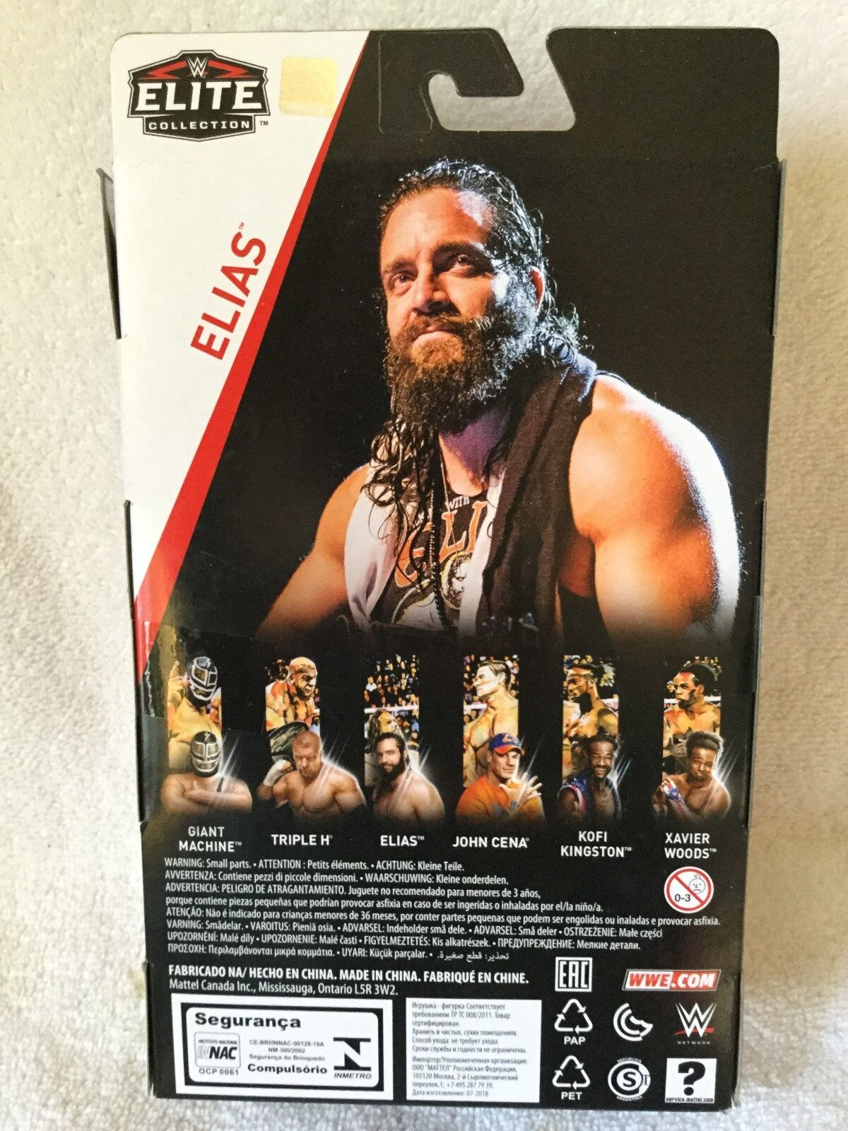 WWE Elite  Series Series Series 60 Elias with Guitar  MIB in Hand 2018 Canadian Variant 59938a
