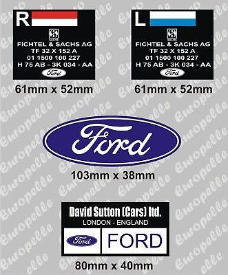 Pegatinas RS Centro De Rueda Calcomanías Ford Escort Mk1 /& Mk2 RS2000 México