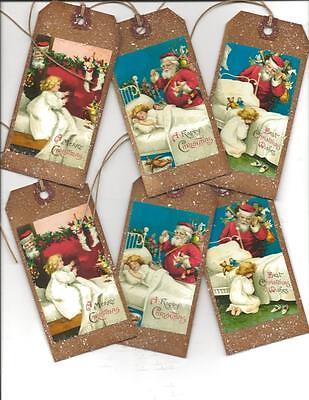12 PRIMITIVE TAGS~Christmas Primitive~Waiting for Christmas!