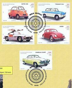 FRG-2002-Cult-cars-I-Chartity-No-2289-2293-with-Berlin-Stamp-1A-1805