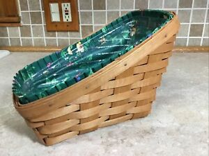 Longaberger 1992 Small Vegetable Basket With Liner & Protecter