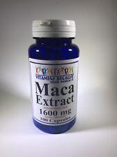 Maca Root Extract 1600 mg Enhance Sexual Health 100 Caps