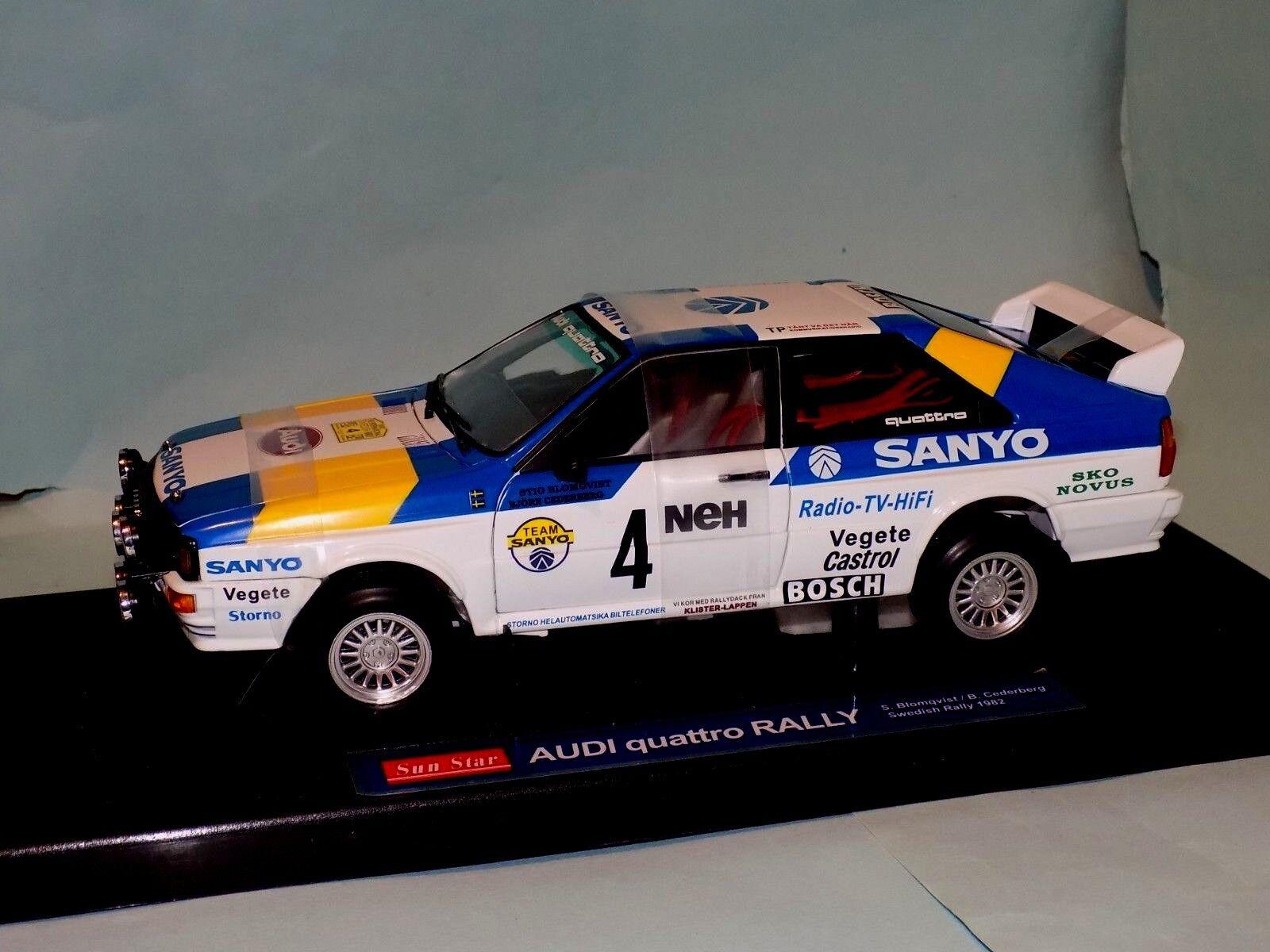 Audi Quattro Race Car S. Blomqvist  B. Cederberg 1982  SUN STAR 4188 1 18