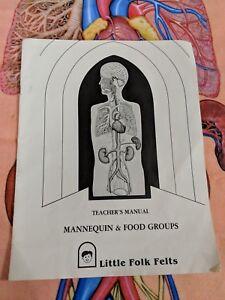 Little-Folk-Felts-Mannequin-amp-Food-Groups-Set-w-Teacher-039-s-Manual-Felt-Pieces