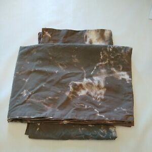 Urban-Outfitters-Marbleized-Grey-brown-white-Pillow-Cases-set-of-2-Twin-Size