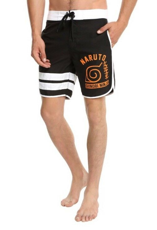 Naruto Mens Swim Trunks NWT New 36