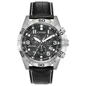 Citizen-Eco-Drive-Men-039-s-Chronograph-Titanium-Case-Black-43mm-Watch-BL5551-14H